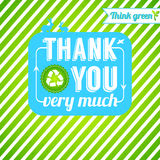 Ecological thank you card. Gratitude for thinking  Stock Photography