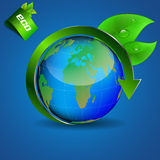 Ecological theme background with globe Stock Images