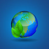 Ecological theme background with globe Stock Photography