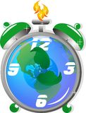 Ecological time clock,, Has time run out?? Stock Images