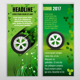 Ecological Tire banners Stock Images