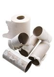 Ecological toilet paper. Rolls of toilet paper made from recycled paper Royalty Free Stock Photo