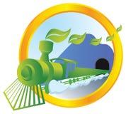 Ecological transport. Train running on bio energy Royalty Free Stock Photo