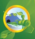 Ecological transport. Ship running on bio energy Stock Images