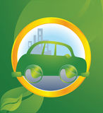Ecological transport. Car running on bio energy Stock Images