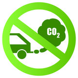 Ecological transport sign Royalty Free Stock Images