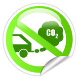 Ecological transport sticker Royalty Free Stock Photo