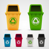 Ecological trash set Royalty Free Stock Photos