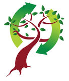 Ecological tree concept illustration design. Over white Royalty Free Stock Images