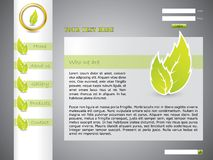 Ecological web template Stock Photos