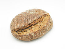 Ecological wheat and rye bread isolated on white Stock Photos