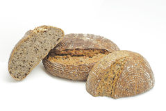 Ecological wheat and rye bread with sesame seeds, flax and sunfl Royalty Free Stock Images