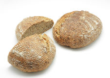 Ecological wheat and rye bread with sesame seeds, flax and sunfl Royalty Free Stock Photos