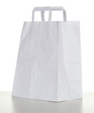 Ecological white paper bag Royalty Free Stock Image
