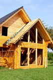 Ecological wooden cottage Stock Images