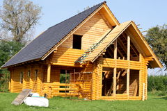 Ecological wooden cottage Royalty Free Stock Photos