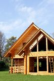 Ecological wooden cottage Royalty Free Stock Photo
