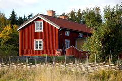 Ecological wooden cottage Stock Photography