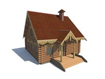 Ecological wooden house Royalty Free Stock Photo