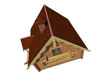 Ecological wooden house Royalty Free Stock Photos