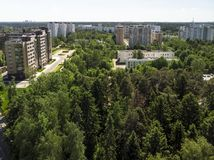 Ecologically clean Zelenograd administrative district of Moscow in Russia. An Ecologically clean Zelenograd administrative district of Moscow in Russia stock images
