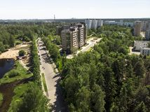 Ecologically clean Zelenograd administrative district of Moscow in Russia. An Ecologically clean Zelenograd administrative district of Moscow in Russia royalty free stock images