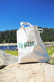 Ecologically Freindly Shopping Bag. Shopping bag made out of recycled materials, Ecologically  freindly, replaces plasic shopping bags Stock Images
