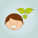 Ecologically kids design Royalty Free Stock Image
