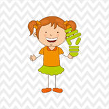 Ecologically kids design Stock Images