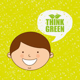 Ecologically kids design Stock Photography