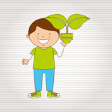 Ecologically kids design Royalty Free Stock Images