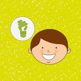 Ecologically kids design Stock Photos