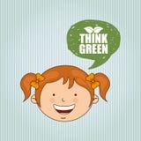 Ecologically kids design Stock Photo