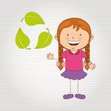 Ecologically kids design Royalty Free Stock Photo