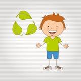 Ecologically kids design Stock Image