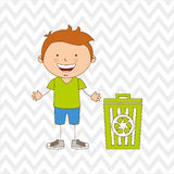 Ecologically kids design Stock Photo