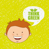 Ecologically kids design Royalty Free Stock Photography