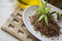Ecologically pure buckwheat Royalty Free Stock Photo