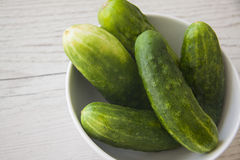 Ecologically pure cucumbers Royalty Free Stock Images