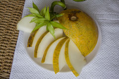 Ecologically pure melon Stock Images