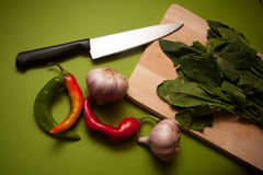 Ecologically pure spinach Royalty Free Stock Images