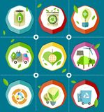 Ecologically Save Energy Devices Illustrations Royalty Free Stock Images