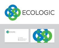 Ecologicembleem Royalty-vrije Stock Foto