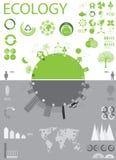 Ecologie, de grafiekinzameling van recyclingsinfo Stock Afbeeldingen