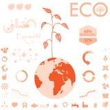 Ecologie, de grafiekinzameling van recyclingsinfo Royalty-vrije Stock Afbeeldingen