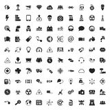 Ecologie 100 die pictogrammen voor Web worden geplaatst Stock Foto's