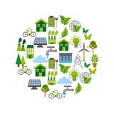 ecologie en groen ideeontwerp stock illustratie