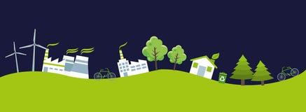 Ecologie en groene wereld vector illustratie