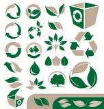 Ecologie en kringlooppictogrammen Stock Afbeelding