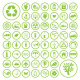 Ecologie en kringlooppictogrammen, vectoreps10 Royalty-vrije Stock Fotografie
